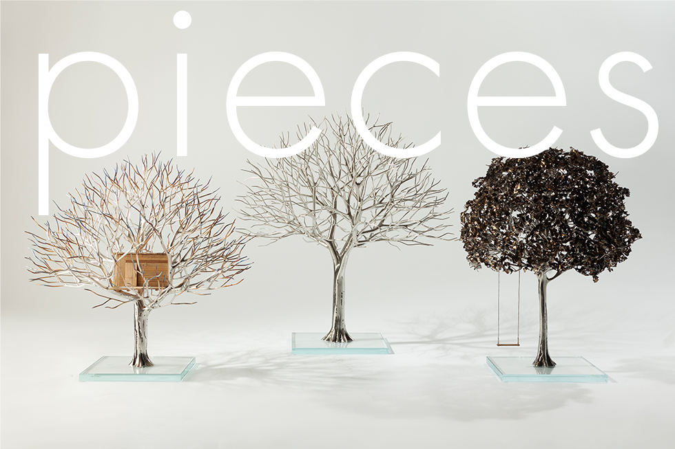 Tim Bardel - Pieces 2014 - handgefertigte Edelstahlbäume - #1 #2 #5