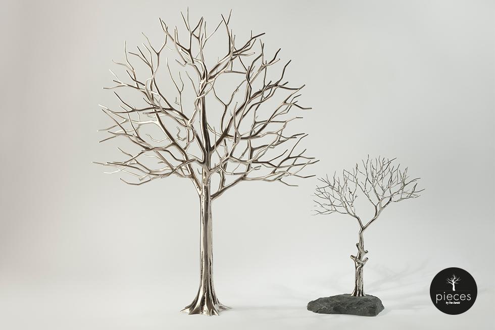 Tim Bardel - Pieces 2014 - handgefertigte Edelstahlbäume - #3 #4