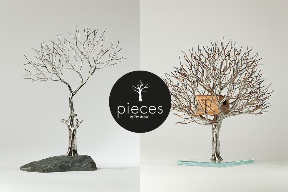 Tim Bardel - Pieces 2014 - handgefertigte Edelstahlbäume - #4 #5